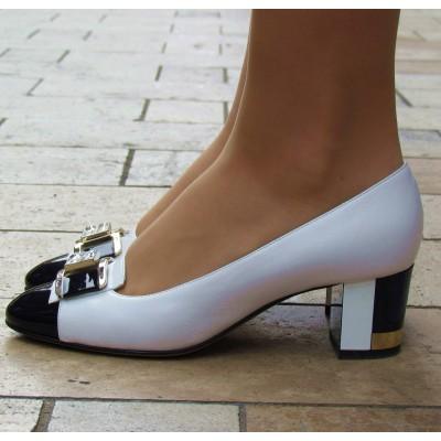 Accademia kék-fehér cipő