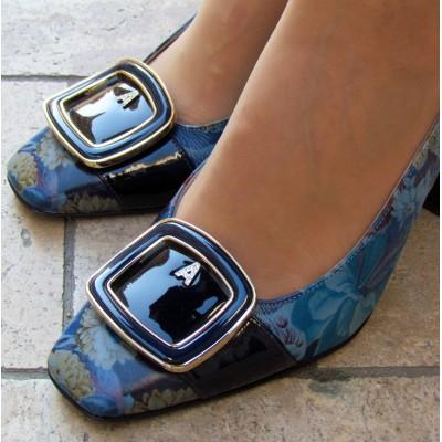 Accademia kék mintás sling