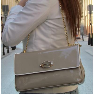 Accademia bézs táska