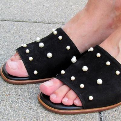 Alexandra fekete papucs