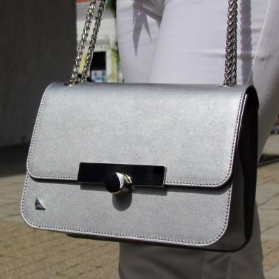 Cango&Rinaldi ezüst átdobós táska