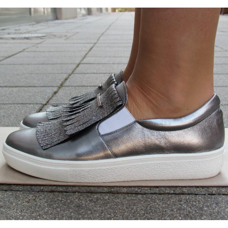 Cango & Rinaldi króm glitteres cipő