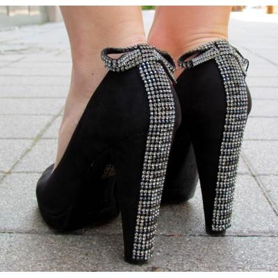 Cango & Rinaldi fekete elöl nyitott cipő