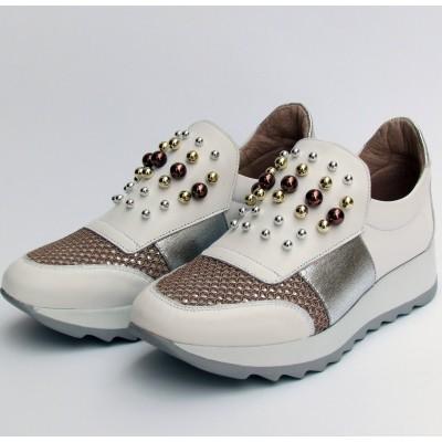 Dansi fehér-ezüst cipő