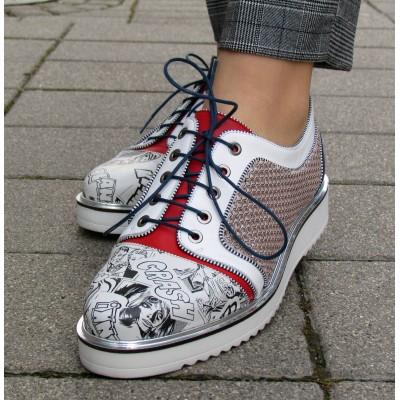 Dansi mintás, fűzős cipő