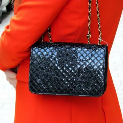 Dyva fekete átdobós táska
