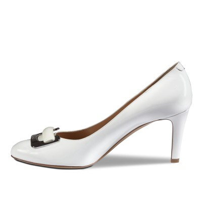 Dyva fehér magas cipő