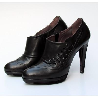 Fabi fekete bokacipő