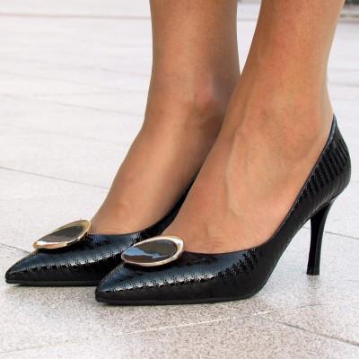Giorgio Fabiani fekete alkalmi cipő