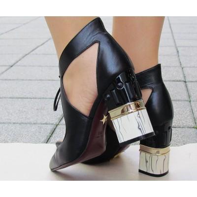 Giorgio Fabiani fekete kötős cipő