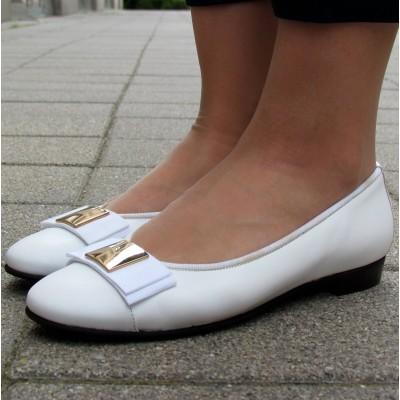 Gabriele fehér balerina cipő