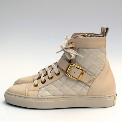 Loretta Pettinari bézs magasszárú cipő