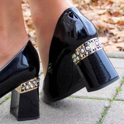 Marino Fabiani sötétkék alkalmi cipő