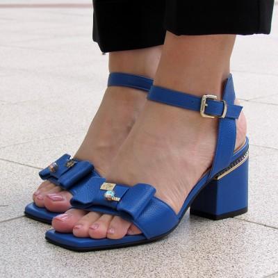 Marino Fabiani kék magassarkú szandál