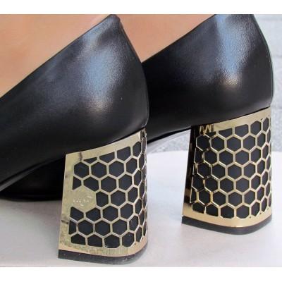 Marino Fabiani fekete magassarkú cipő