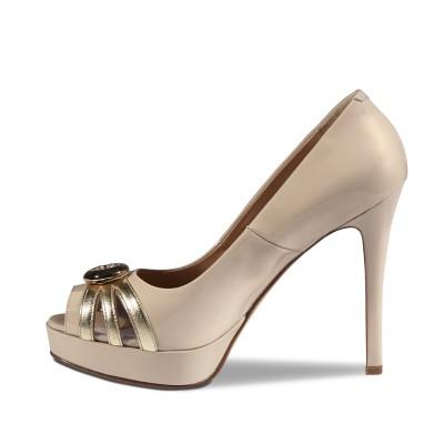 Marino Fabiani krém magassarkú cipő