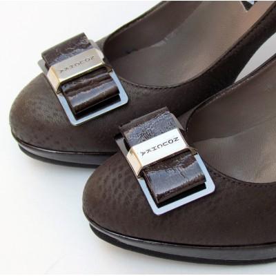 Nouchka barna magassarkú cipő
