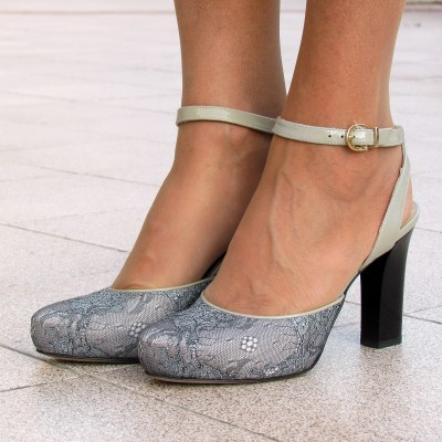 Nouchka szürke csipkés cipő