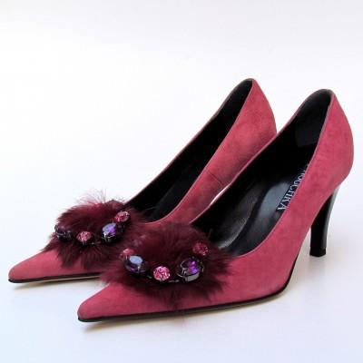Nouchka rózsaszín velúr cipő