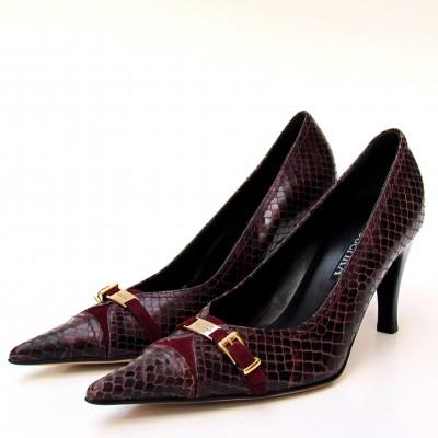 Nouchka bordó magassarkú cipő