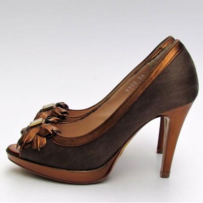 Nouchka barna-bronz magassarkú