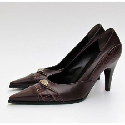 Nouchka sötétbarna magassarkú cipő