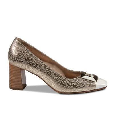 Nouchka arany-fehér cipő