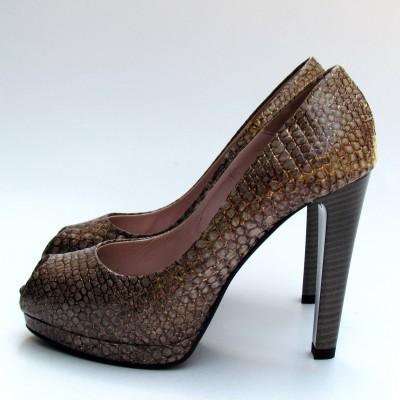 Orietta Mancini fango-arany mintás cipő