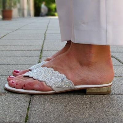 Chiara Pasquini fehér papucs