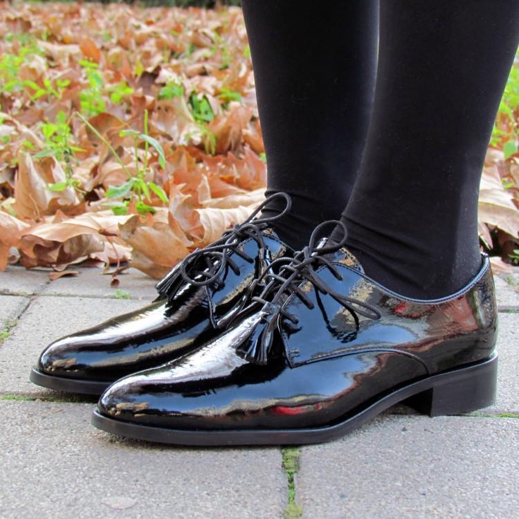 Pertini fekete lakkbőr cipő