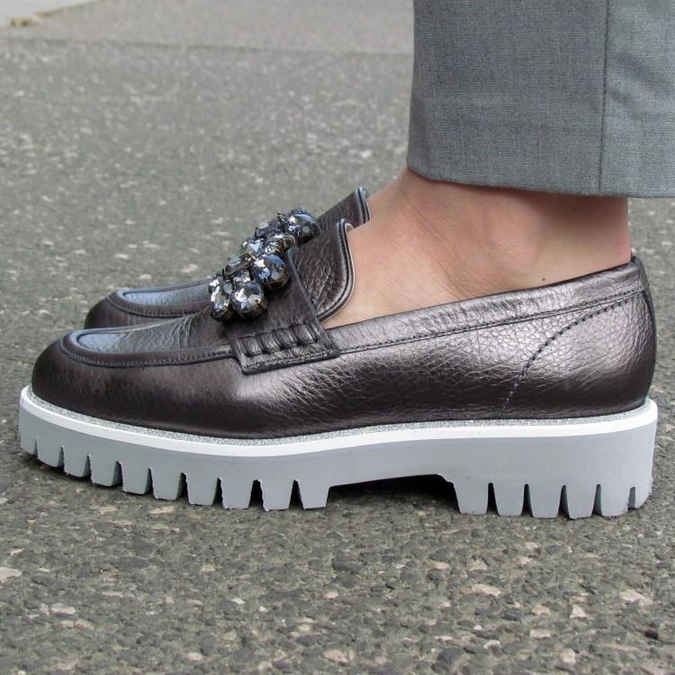 Pertini ezüst köves cipő