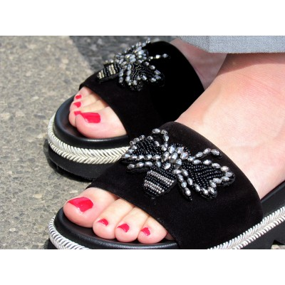 Pertini fekete papucs