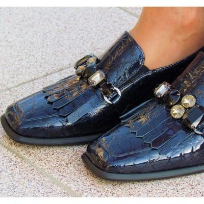 Pertini sötétkék köves cipő