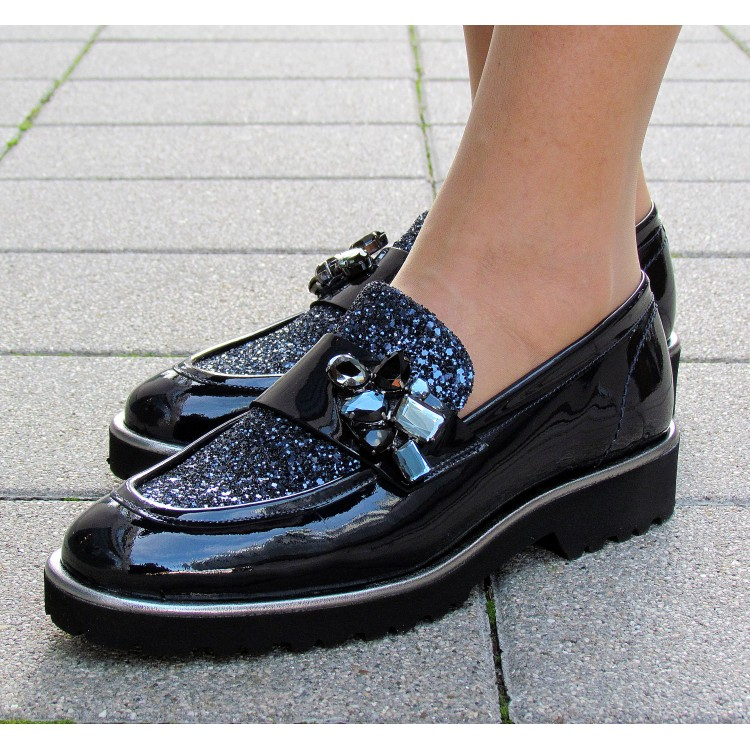 Pertini kék köves félcipő