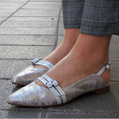 Pertini fényes hátul nyitott cipő