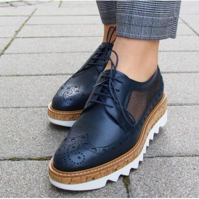 Pertini sötétkék hálós cipő
