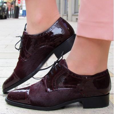 Pertini bordó fűzős cipő