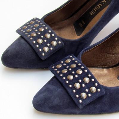 Peter Kaiser kék velúr cipő