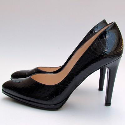 Peter Kaiser sötétkék krokkó mintás cipő