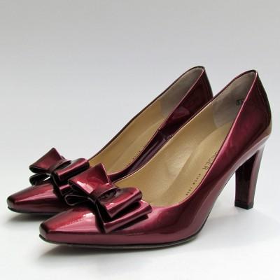 Peter Kaiser bordó magassarkú cipő