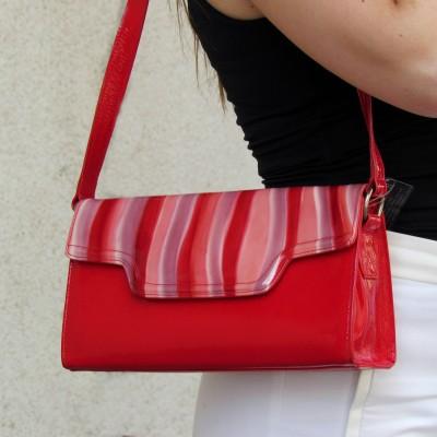 Peter Kaiser piros csíkos táska