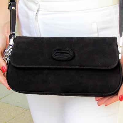 Peter Kaiser fekete velúr táska