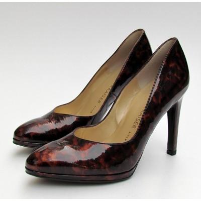 Peter Kaiser sötétbarna mintás cipő