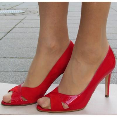 Peter Kaiser piros lakk cipő