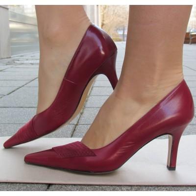 Peter Kaiser bordó hegyesorrú cipő