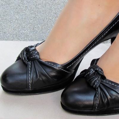 Peter Kaiser fekete magassarkú cipő