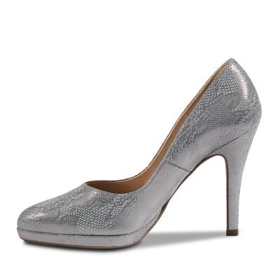 Peter Kaiser ezüst magas cipő