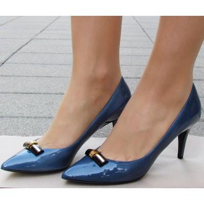 Sandro Vicari kék magas cipő
