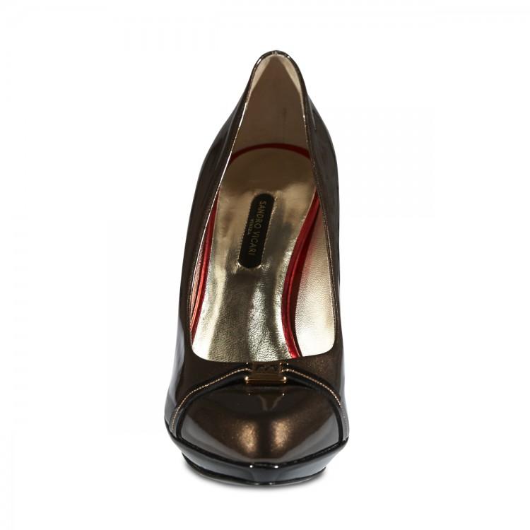 Sandro Vicari barna magas cipő