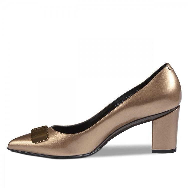 Sandro Vicari arany kis sarkú cipő